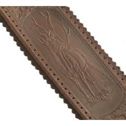 Ekluzivní kožený řemen na zbraň 5 cm - srnec