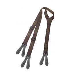 Podvazky LEATHER JOINT Suspenders Hart